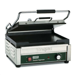 Panini Grill Cast Iron 14 1 2 wx11 d Cooking Surface Smooth Plates