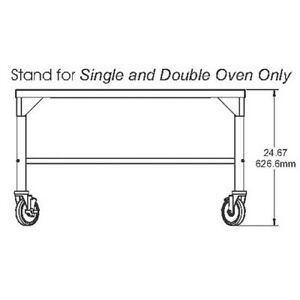 Stand For Middleby Marshall Single double Stack Countertop Conveyor Ovens