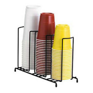 Wire Cup And Lid Dispenser 3 Sections Up To 44 Oz