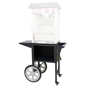 Value Series Pop1cart bk Black Popcorn Machine Cart Cart Only