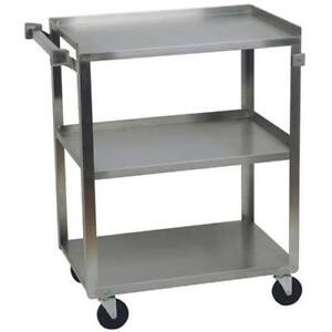 Stainless Steel Utility Cart 300 Lbs Capacity 16 1 4 w X 27 1 2 d X 32 1 8 h
