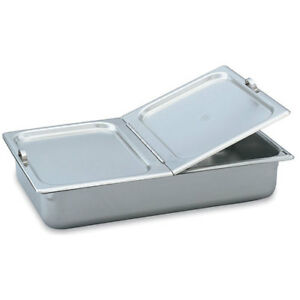 Full size Steam Table Pan Cover Hinged Flat