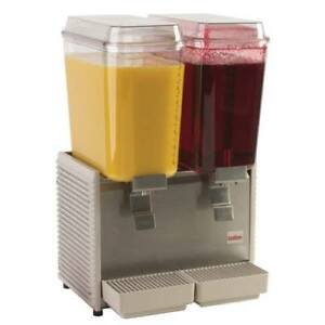 Classic Bubbler Cold Beverage Dispenser 2 Bowls 17 1 2 w