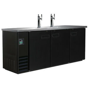 Central Exclusive Draft Beer Dispenser Three Door Two Double Head Taps