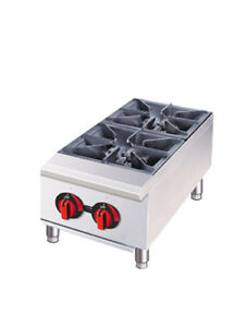 Central Restaurant 12 w Countertop Gas Range 2 Burners