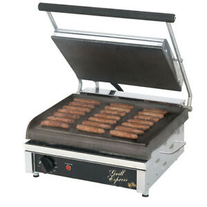 Panini Grill Cast Iron 14 wx10 d Smooth Cooking Surface