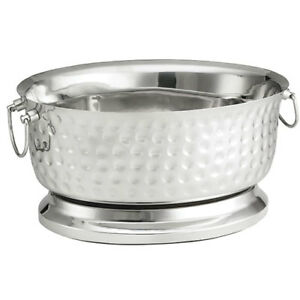 Stainless Steel Oval Beverage Tub Double Wall 18 wx8 3 4 dx15 1 4 h