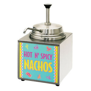 Lighted Nacho Cheese Warmer And Dispenser With Standard Spout