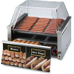 Hot Dog Roller With Bun Drawer Nonstick Roller 30 Dog 32 Bun Capacity