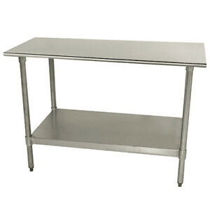 Central Exclusive Tts248x Stainless Steel Work Table 96 wx24 d