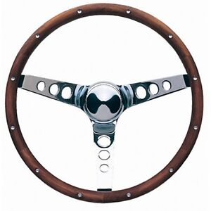 Grant 13 5 Wood Steering Wheel Installation Kit Mopar Horn Button For Charger