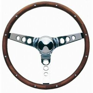 Grant 13 5 Wood Steering Wheel Installation Kit Red Horn Button For Blazer