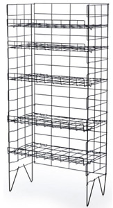 5 Adjustable Shelf Wire Bakers Floor Display Rack Convenience Store Snack Food