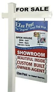 Vinyl Pvc Real Estate Yard Sign Post 6 Tall 42 Arm By Ezee Post