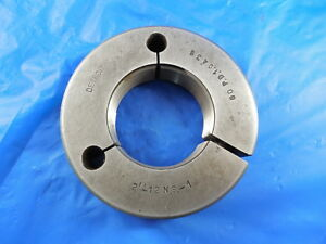 2 12 Ns 1 Thread Ring Gage 2 0 Go Only P d 1 9435 Machine Inspection Tooling