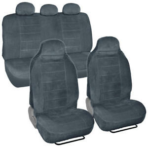 Thick Velour High back Car Seat Cover For Built in Headrest Front