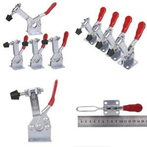 Accessbuy 4pack Hold Down Toggle Clamps Latch Antislip Red 201 b 220lbs Quick