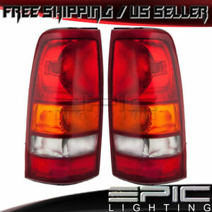 Rear Tail Lights For 1999 2003 Gmc Sierra Chevrolet Silverado Left Right Pair