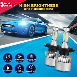 Cree H4 Led Headlight Kit Light Bulbs Hi Lo Beam 6000k 9003 Hb2 1850w 277500lm