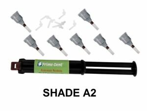 Dental Adhesive Cement Luting Dual Cure Automix Syringe All Shade Prime Dent Usa