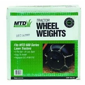 MTD Genuine Parts OEM-190-215 62 Lb Lawn Tractor Wheel Weight Kit $108.30