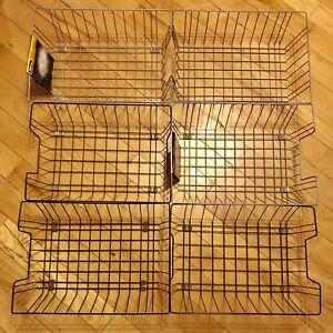 Lot Of 6 Fellowes Wire Desk Tray Organizer One Tier Wire Silver