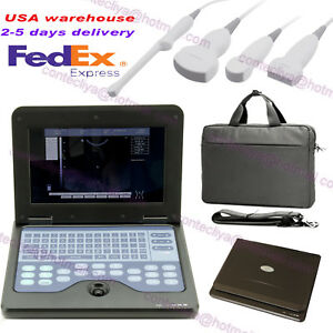Notebook laptop Diagnostic Machine B ultrasound Scanner Machine With 2 Probe Usa