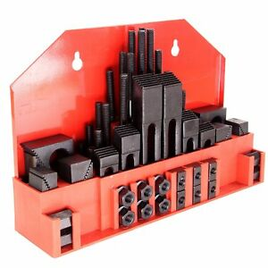 Bridgeport Mill Hold down Clamping Kit Stud Steel Table 58 Pcs 5 8 Slot 1 2 13