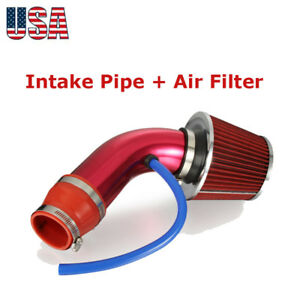 3 76mm Universal Car Cold Intake Pipe Hose Air Filter Alumimum Induction Kit