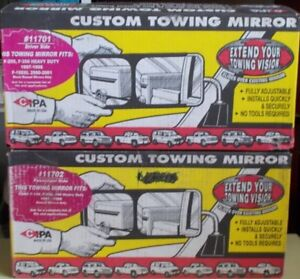 Pair Custom Cipa Towing Mirrors For 97 98 F250 F350 Ford 2000 1 F150