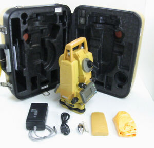 Topcon Gpt 3002 Total Station 2 Angle Accuracy Dual Compensator For Surveying