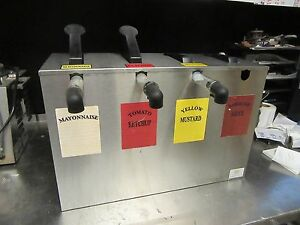 A41 Server Se 4 Commercial 4 Pump Condiment Serving Station Ss Counter Top
