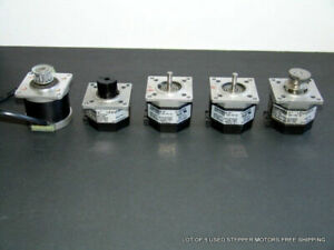 Lot Of 5 Used Stepper Motors Free Shipping