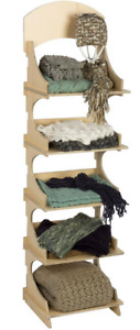 Wooden 5 Shelf Retail Knock Down Display Stand