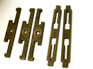Vtg Asian Brass Backplates For Drawer Pulls And Furniture Appliques Mid Century