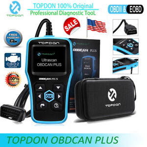 Topdon Obdcan Plus Obd2 Eobd Car Diagnostic Tool Can Fault Code Reader Scanner