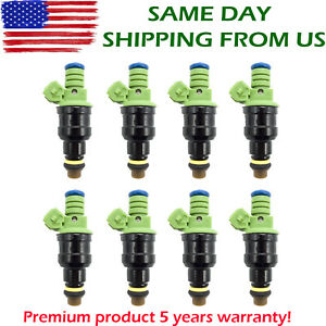 Set Of 8 42lb 440cc Ev1 Fuel Injectors For Gm Lt1 Ls1 Ls6 Ford Mustang Sohc Dohc