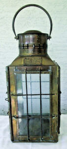 Vintage 1935 Brass Chief Light Made In Great Britain Lantern Oil Lamp Ship 3509
