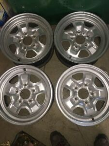 Gm Oldsmobile Rally Wheels Lot Of 4 Made In Usa