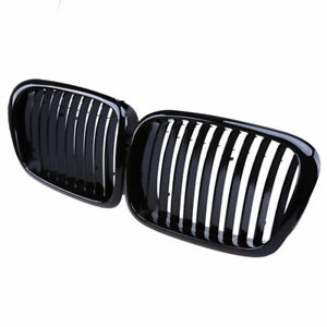 Gloss Black Front Kidney Grill Grille For Bmw E39 5series 97 03 Sedan M5 Touring