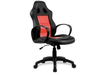 Costway High Back Race Car Style Bucket Seat Office Desk Chair Gaming Chair Red
