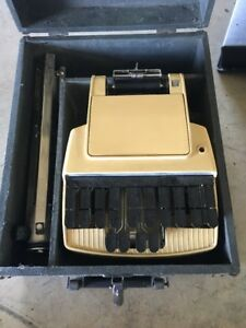 Vintage Stenograph Reporter Model Short Hand Machine Made In Usa W Case Stand