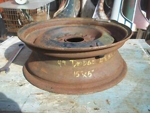 1955 Dodge Wheel 15 15x5 Rim Plymouth Chrysler Pickup 1951 1954 1953 1948 F