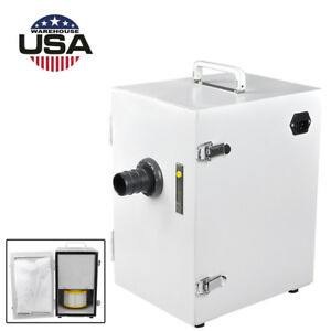 Dental Dust Collector Single row Vacuum Cleaner Equipment 370w For Lab Us Stock