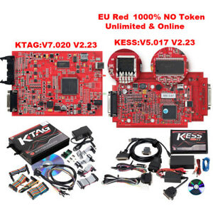 Kess V2 V5 017 Red Pcb Online Version V2 23 Plus Ktag K tag 7 020 V2 23 Red Pcb