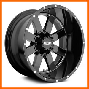 4 22x14 Moto Metal Mo962 5 6 8 Lug New Black Wheels Rims Free Caps