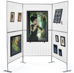 3 Panel Craft Fair Art Show Gallery Booth Grid Display Exhibit Stand