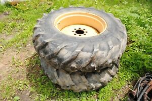 16 9 28 Rear Wheels Tires E6nn1100ka Ford 555b Backhoe