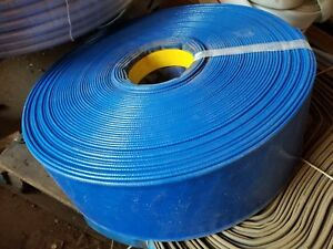 Blue Pvc Lay Flat Discharge Hose 4 Id X 150