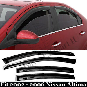 Fit 2002 2003 2004 2005 2006 Nissan Altima Window Visor Vent Rain Deflector